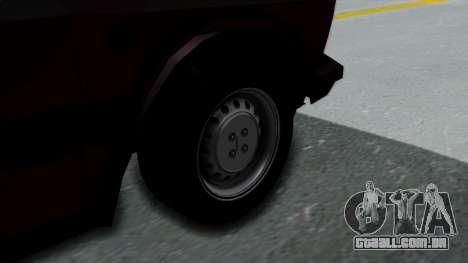 Yugo Koral 55 para GTA San Andreas traseira esquerda vista