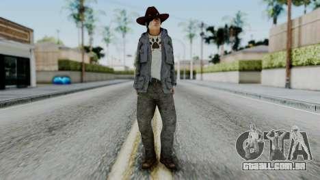 Carl Grimes from The Walking Dead para GTA San Andreas segunda tela