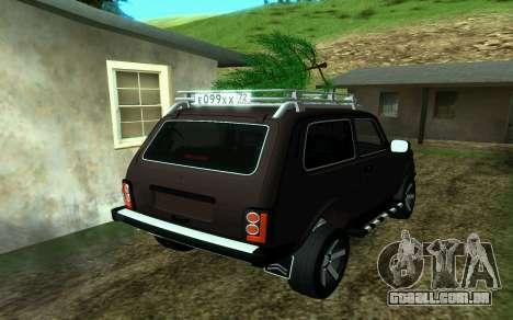 VAZ 2121 Niva Forester para GTA San Andreas esquerda vista