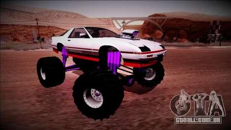 GTA 5 Imponte Ruiner Monster Truck para GTA San Andreas vista superior