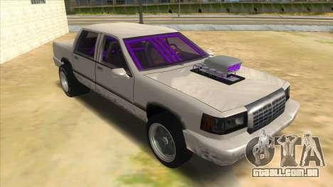 Stretch Sedan Drag para GTA San Andreas vista traseira