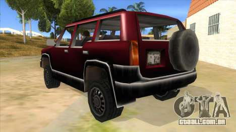GTA III Landstalker para GTA San Andreas traseira esquerda vista