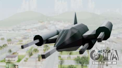 TCFU Spaceship para GTA San Andreas traseira esquerda vista