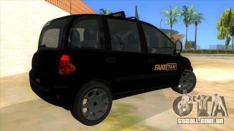 Fiat Multipla FAKETAXI para GTA San Andreas vista direita