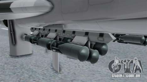 TU-22M3 Cinza para GTA San Andreas vista direita
