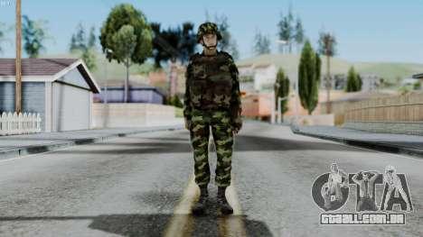 Srpski Vojnik 1999 para GTA San Andreas segunda tela