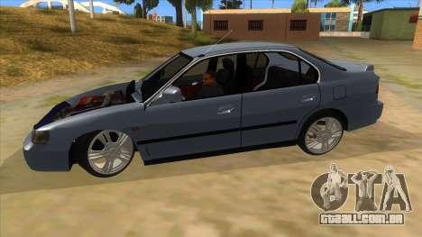 Honda Accord Sedan 1997 para GTA San Andreas esquerda vista