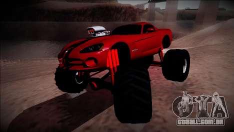 Dodge Viper SRT10 Monster Truck para GTA San Andreas vista direita