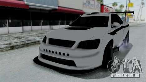 GTA 5 Karin Sultan RS Drift Double Spoiler PJ para GTA San Andreas vista interior