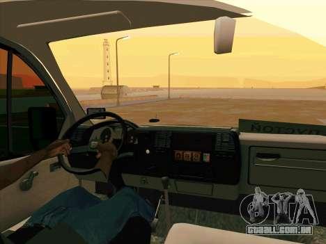 GAZ 33023 NORD para GTA San Andreas traseira esquerda vista