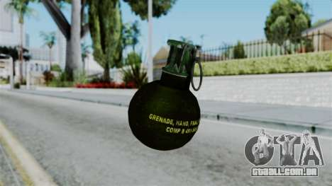 No More Room in Hell - Grenade para GTA San Andreas segunda tela