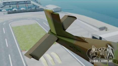 PC-6 USAF Markings para GTA San Andreas traseira esquerda vista