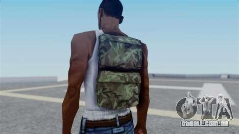 Arma 2 New Backpack para GTA San Andreas terceira tela