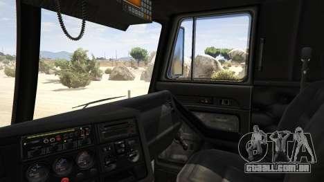 GTA 5 Los Angeles Fire Truck traseira direita vista lateral