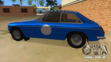Richard Hammond MGB GT Top Gear para GTA San Andreas esquerda vista