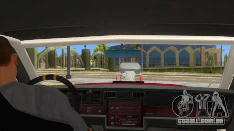 1984 Chevrolet Impala Drag para GTA San Andreas vista interior