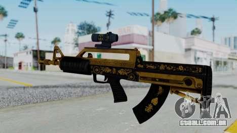 GTA 5 Online Lowriders DLC Bullpup Rifle para GTA San Andreas segunda tela