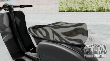 GTA 5 Principe Faggio para GTA San Andreas traseira esquerda vista