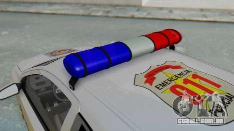 Opel-Vauxhall Astra Policia para GTA San Andreas vista traseira