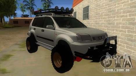 Nissan X-Trail 4x4 Dirty by Greedy para GTA San Andreas vista traseira