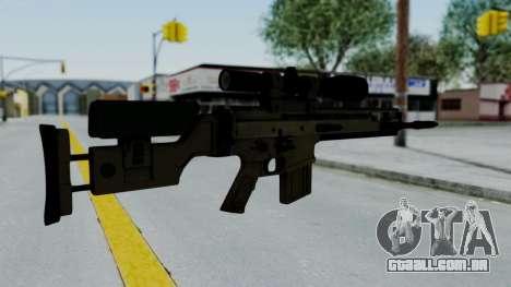 SCAR-20 v2 No Supressor para GTA San Andreas segunda tela