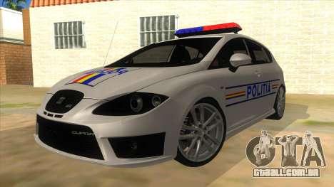 Seat Leon Cupra Romania Police para GTA San Andreas
