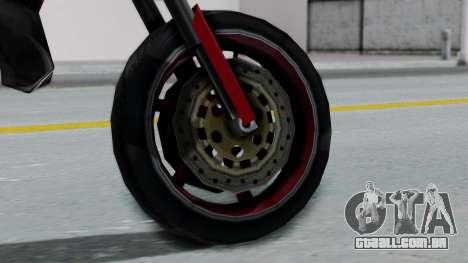 SanchezX para GTA San Andreas traseira esquerda vista