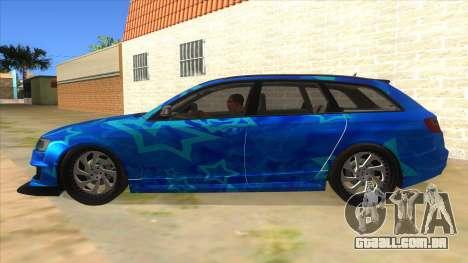 Audi RS6 Blue Star Badgged para GTA San Andreas esquerda vista