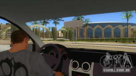 Dacia Logan Romania Police para GTA San Andreas vista interior