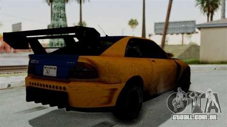 GTA 5 Karin Sultan RS Drift Big Spoiler para GTA San Andreas esquerda vista