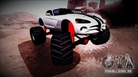Dodge Viper SRT10 Monster Truck para GTA San Andreas vista interior