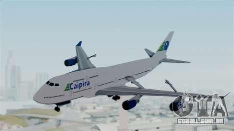 GTA 5 Jumbo Jet v1.0 Caipira Air para GTA San Andreas traseira esquerda vista