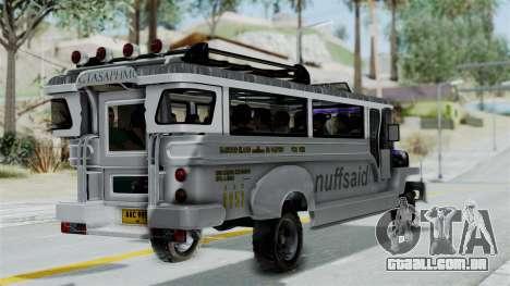 Jeepney Philippines para GTA San Andreas esquerda vista
