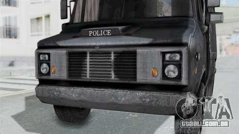 A van da polícia, a partir de RE Outbreak para GTA San Andreas vista direita