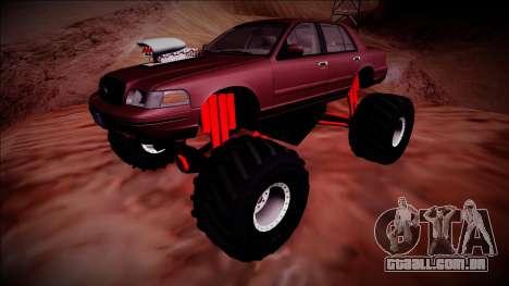 2003 Ford Crown Victoria Monster Truck para GTA San Andreas vista superior
