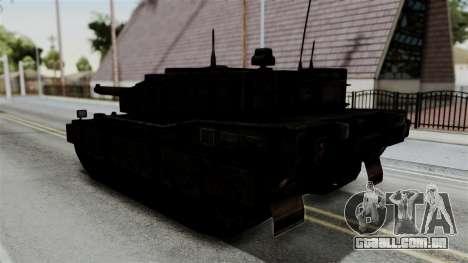 Point Blank Black Panther Rusty IVF para GTA San Andreas esquerda vista