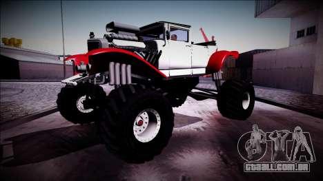 GTA 5 Albany Franken Stange Monster Truck para GTA San Andreas vista interior