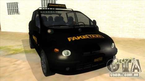 Fiat Multipla FAKETAXI para GTA San Andreas vista traseira