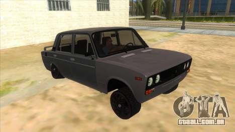 VAZ 2106 Drift Edition para GTA San Andreas vista traseira