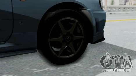 Nissan Skyline GT-R R34 V-spec 1999 para GTA San Andreas traseira esquerda vista