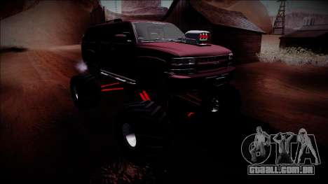 2003 Chevrolet Suburban Monster Truck para vista lateral GTA San Andreas
