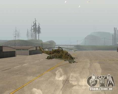 Um Mi-24 De Crocodilo para GTA San Andreas vista direita