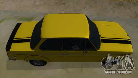 1974 BMW 2002 turbo v1.1 para vista lateral GTA San Andreas