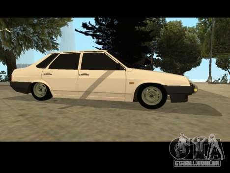 VAZ 21099 Carro Sem rede de Aterragem para GTA San Andreas esquerda vista