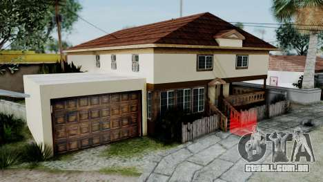CJ House with Frame and Book para GTA San Andreas segunda tela