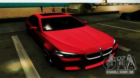 BMW M5 F10 para GTA San Andreas vista superior
