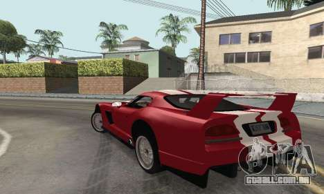 Dodge Viper Competition Coupe para GTA San Andreas esquerda vista