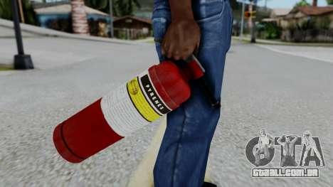 No More Room in Hell - Fire Extingusher para GTA San Andreas terceira tela
