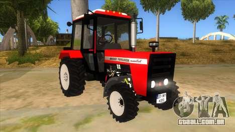 Massley Ferguson Tractor para GTA San Andreas vista traseira