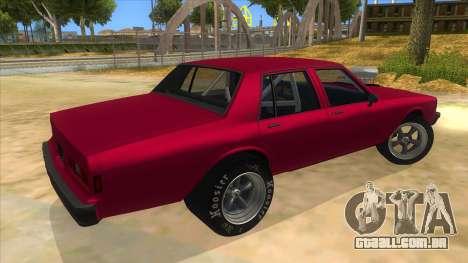 1984 Chevrolet Impala Drag para GTA San Andreas vista direita